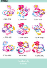 5pcs New Korea Colorful Plastic Elastics children's Kids candy color rubber band baby Girl Hair accessories headdress(China)