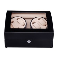Watch Winder  LTCJ Wooden Automatic Rotation 4+6  Storage Case Display Box (Outside is black Inside is white)The new style 2019