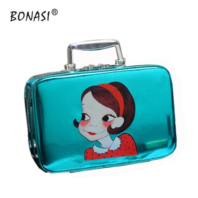 2016 Fashion Shiny Cartoon Design Large Capacity Cosmetic Bag Cosmetic Case