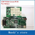 A+ Quality TCS cdp Without bluetooth green PCB board with NEC Relays 2015.1 software cdp+ car / trucks diagnostic tools