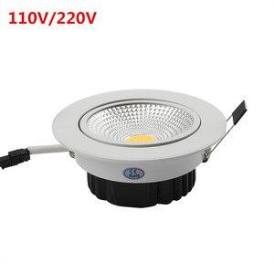 Image 1 - Сверхъяркий Светодиодный точечный светильник с регулируемой яркостью, точечный светильник с COB матрицей, 5 Вт, 7 Вт, 9 Вт, 12 Вт, Встраиваемый светодиодный точечный светильник, лампочки для внутреннего освещения