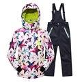 Menos 25 graus crianças Outerwear quente casaco desportivo terno crianças roupas de esqui impermeável à prova de vento meninos meninas casacos para 5 - 14 T