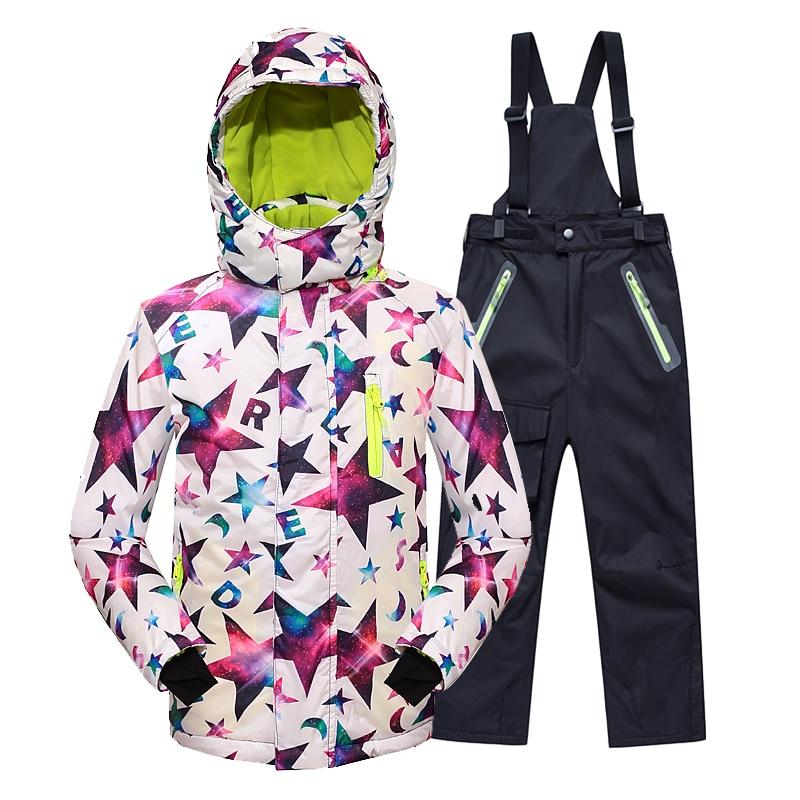 Minus 25 Degrees Children Outerwear Warm Coat Sporty Ski Suit Kids Clothes Set Waterproof Windproof Boys Girls Jackets For 5-14T
