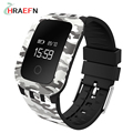 2017 Military style A28 Fitness Tracker Smart Band Heart Rate monitor Waterproof wristband sport bralecet watch for ios android