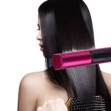 2 in 1 LED Wireless USB Rechargeable Hair Straightener Curler Curling Tool