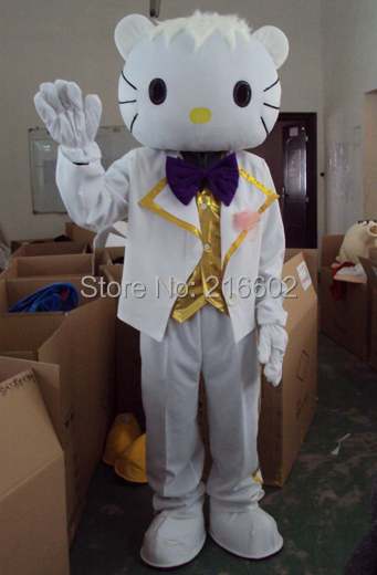 cosplay costumes Adult size Male Hello kitty Mascot costume Free shipping