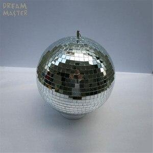 Image 2 - Вращающийся стеклянный зеркальный шар диаметром 30 см, Рождественская Праздничная лампа 12 дюймов с вращающимся двигателем, светоотражающие подвесные декоративные шары для магазина