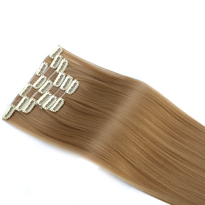 Imstyle 14 Colors Available Clip In Hair Extension 6Pcs/set 24 inch Straight Synthetic Hairpieces Full Head Heat Resistant
