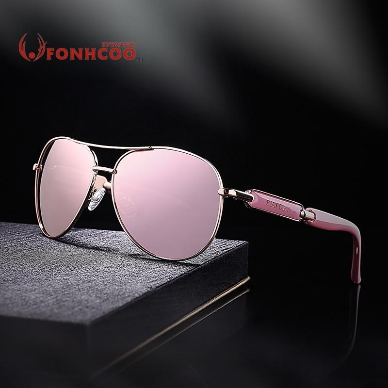 FONHCOO vintage fashion sunglasses wanita logam pria kacamata driver - Aksesori pakaian - Foto 1