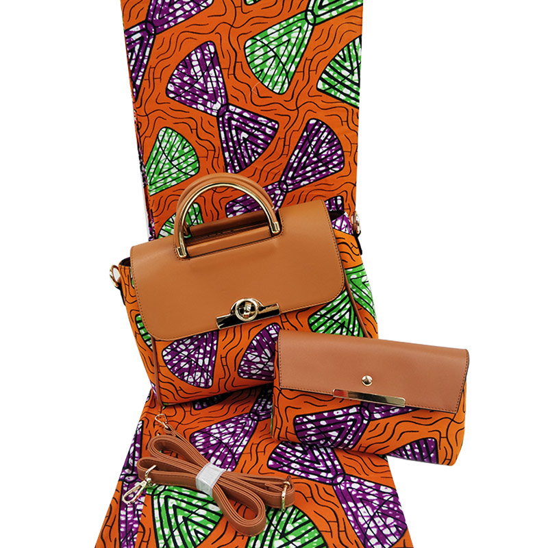Latest arrival high quality wax with bag african wax prints 6 yards fabric for sewing H171106