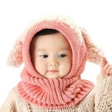 10PCS / LOT SINGYOU Winte Boys Girls Baby Knitted Hats Cute Scarf Beanie Cap Kawaii Gorro Warm Hat Age for 6-36 mon
