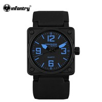 INFANTRY Men S Blue Fashion Marine Military Sport Silicone Analog Quartz Wrist Watch Original NEW