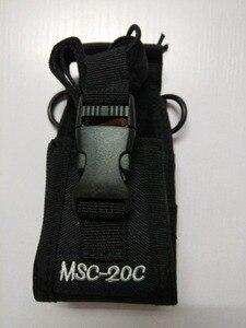 Image 4 - Walkie talkie bolsa MSC 20C bolsa de nylon titular Radio Walkie Talkie para $TERM impacto baofeng UV 9R 5S R760 9700 accesorios de walkie talkie