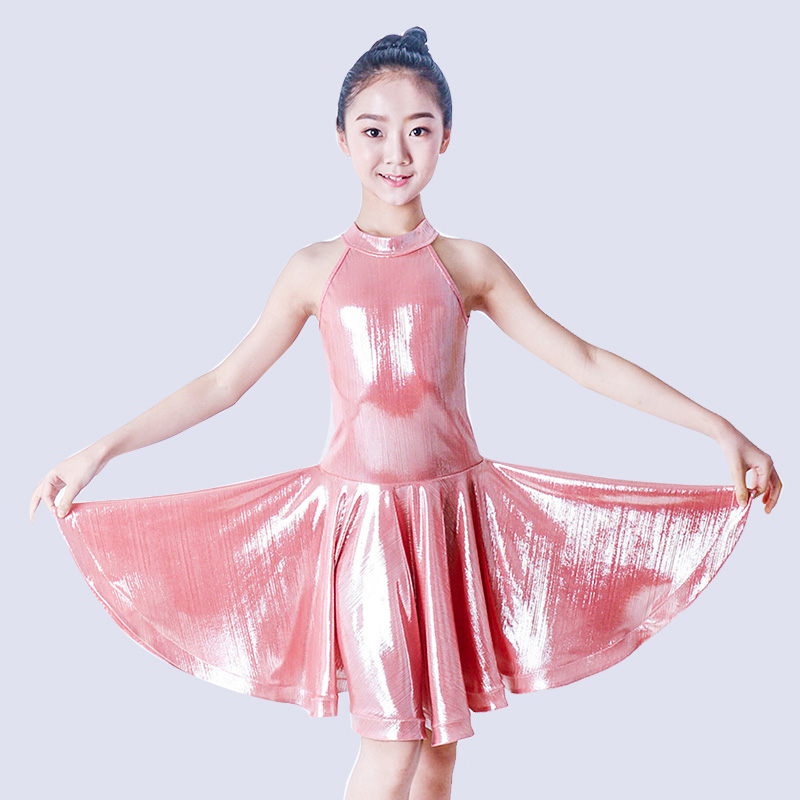 New Latin Dance Costume Girls Practice Clothes Professional Tango Competition Dresses Children Rumba Performance Costume DQL1311