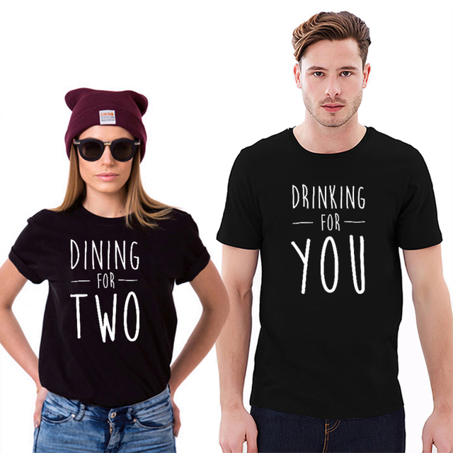 6810d27521e EnjoytheSpirit Couple Tshirt Matching Shirts for Couples Pregnancy  Announcement Funny Letter Printing Lovers Matching Tee Shirt