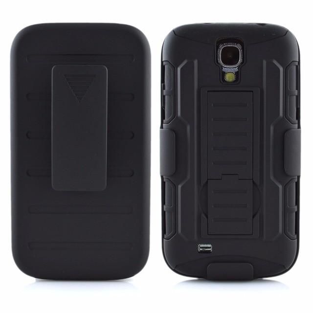 27135f40d95 Future Armor Hybrid Case Military Combo Cover For Samsung Galaxy S4 Mini  i9190 Stand Cases Triple Full Black Coque Fundas