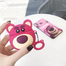 Cute Strawberry Bear For Airpods 1:1 Case Silicone Cartoon Soft Headphone for i10 i30 i60tws Air pods 3D Earpods Accessorie