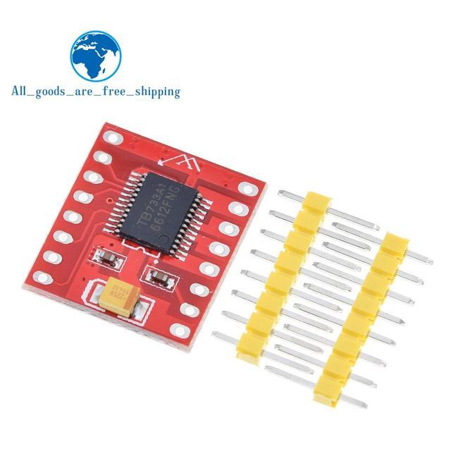 TZT 1 unids/lote Dual controlador de Motor 1A TB6612FNG forArduino microcontrolador mejor que L298N