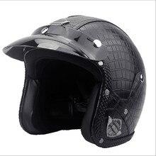 leather 3/4 open face vintage scotter motorbike motorcycle helmet capacete cascos moto retro casque casco de motocicleta vespa все цены