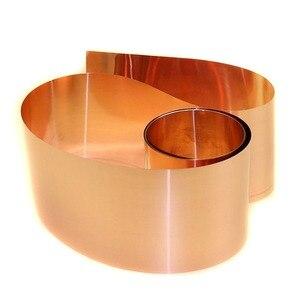 "Image 4 - 1pcs New 99.9% Pure Copper Cut Metal Sheet Foil Roll Tape 0.1*100*1000mm 33ft 39"""