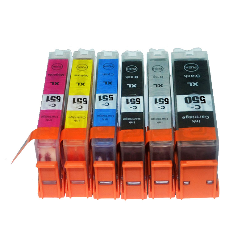 12X совместимые чернильные картриджи LuoCai для canon pgi550 pgi-550 CLI551 CLI-551 MG6350 MG7150 MG7550 IP8750 принтер PGI 550 CLI 551