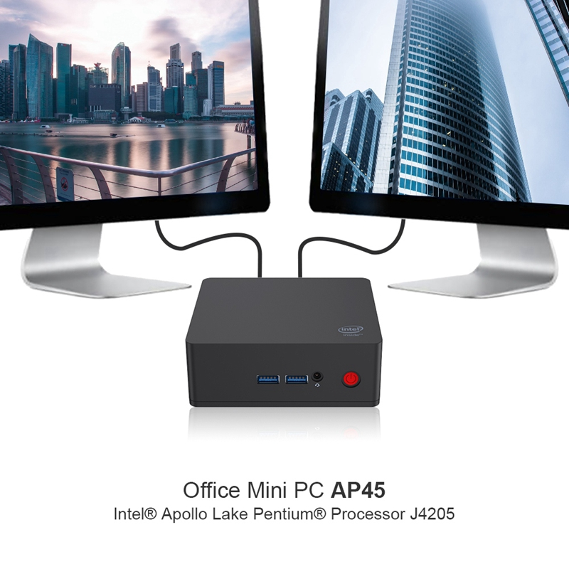 Ap45 Win10 Mini Pc Intel Pentium J4205 Up To 2.6Ghz Ram Ssd Windows 10 Dual Hdmi 4Xusb3.0 Gigabit Lan 4K Htpc Nuc