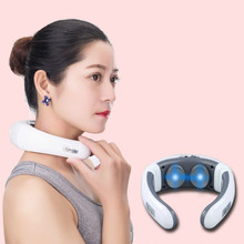 Electric Pulse Back and Neck Massager Far Infrared Heating Pain Relief Tool Health Care Relaxation  Cervical Massage