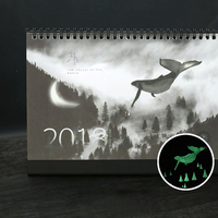 1 Pcs Set Novelty 2018 Creative Luminous Calendar Large Desktop Paper Calendar Dual Daily Scheduler Table