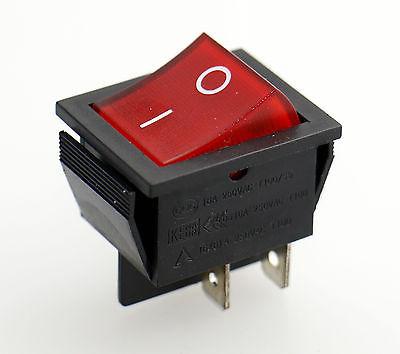 Soken Red Light Dpst On Off Snap In Boat Rocker Switch 15a