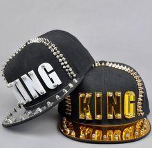 Acryl Board Spike Studs Klinknagel Koning Baseball Cap Vrouwen En Mannen Straat Punk Rock Hiphop Snapback Caps