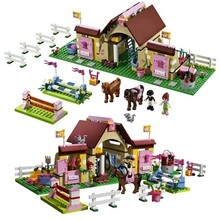 Bela Friends Series 400pcs 10163 Building Blocks HeartLake Stables Mia's Farm Horse Minifigures Girls Toys Compatible with Legoe