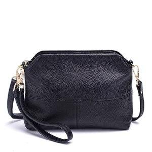 Image 2 - Роскошные сумки клатчи из натуральной кожи, женские сумки, модные сумки через плечо для женщин, сумка мессенджер, сумка тоут, кошелек