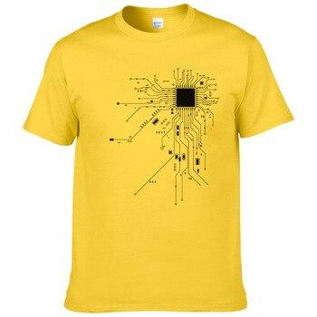 T-Shirt Geek Coeur CPU Core Hommes