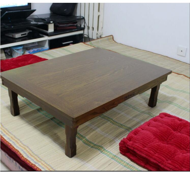 Korean RectangleTable 80*60cm Folding Legs Home Furniture Living Room Antique Table for Dining Traditional  Korean Folding Table wood furniture korean dining table folding leg rectangle 90 80cm home furniture asian antique floor low dining table wooden