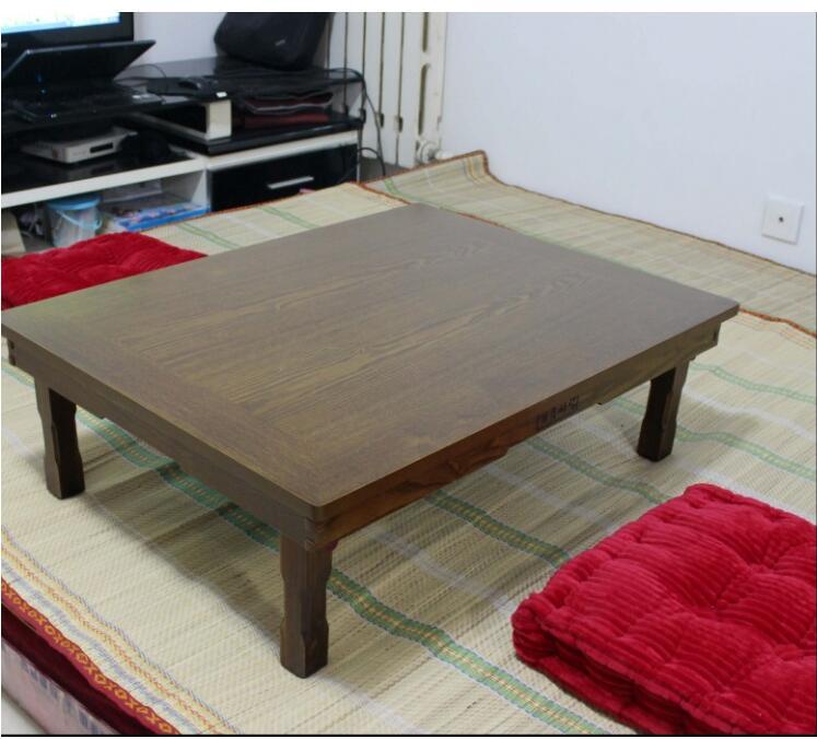 Korean RectangleTable 80*60cm Folding Legs Home Furniture Living Room Antique Table for Dining Traditional  Korean Folding Table