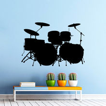 Vinyl Wall Sticker Music Drum Kit Drums Decal Rock Band Art Design Home Bedroom Decor Mural AY719
