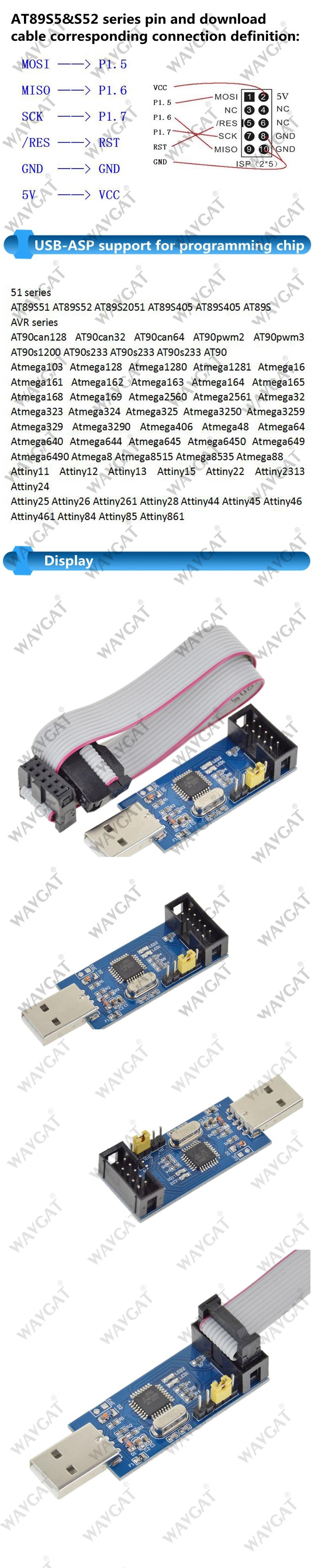 Detail Feedback Questions About Wavgat Usbasp Usbisp Avr Programmer Usb Isp For Atmel With Case Reviews Aeproductgetsubject