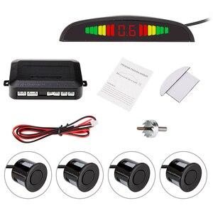 Image 2 - Xe Hơi Tự Động Parktronic LED, Cảm Biến Với 4 Cảm Biến Ngược Dự Phòng Bãi Đỗ Xe Radar Màn Hình Báo Hệ Thống Đèn Nền Hiển Thị