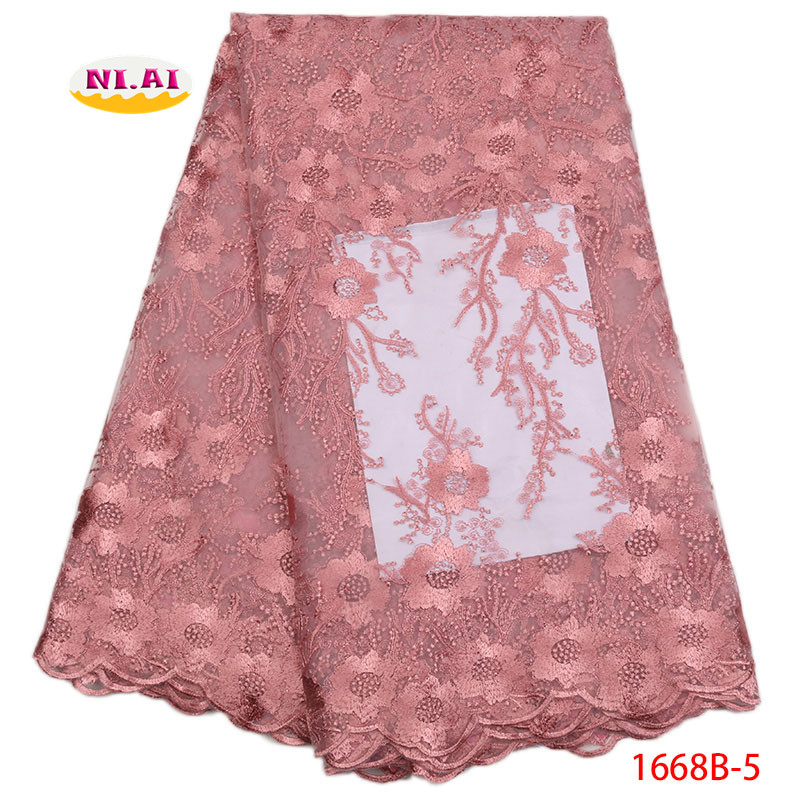 Powder Blue Lace Fabric Women Flower Tulle African Lace Fabric High Quality Lace African Tulle Lace