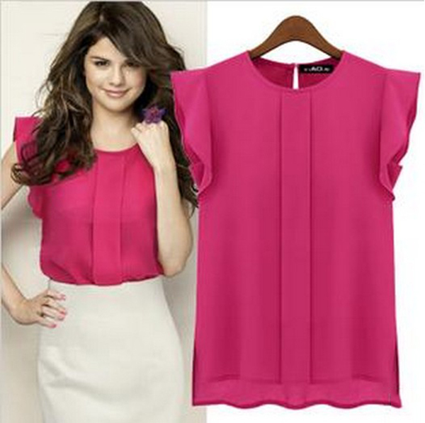 2014 New Fashion Woman Chiffon Shirts Blouse OL La...