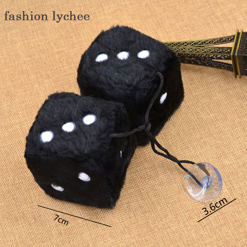 fashion lychee 1 Pc Multicolor Cute 3D Dice Plush Car Key Chain Keyring Keychain Hanging Bag Pendant Toys For Kids Gift