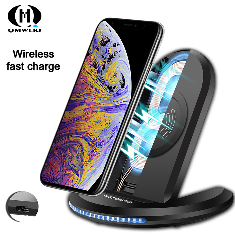 10W Fast Wireless Charging Qi Charger Pad Stand Dock For Apple iPhoneSamsung Huawei