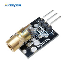 2Pcs KY-008 Red Laser Sensor 6mm 5mW 650nm 5V Transmitter Module Dot Diode Copper Head For Arduino Compatible With UNO MEGA 2560(China)