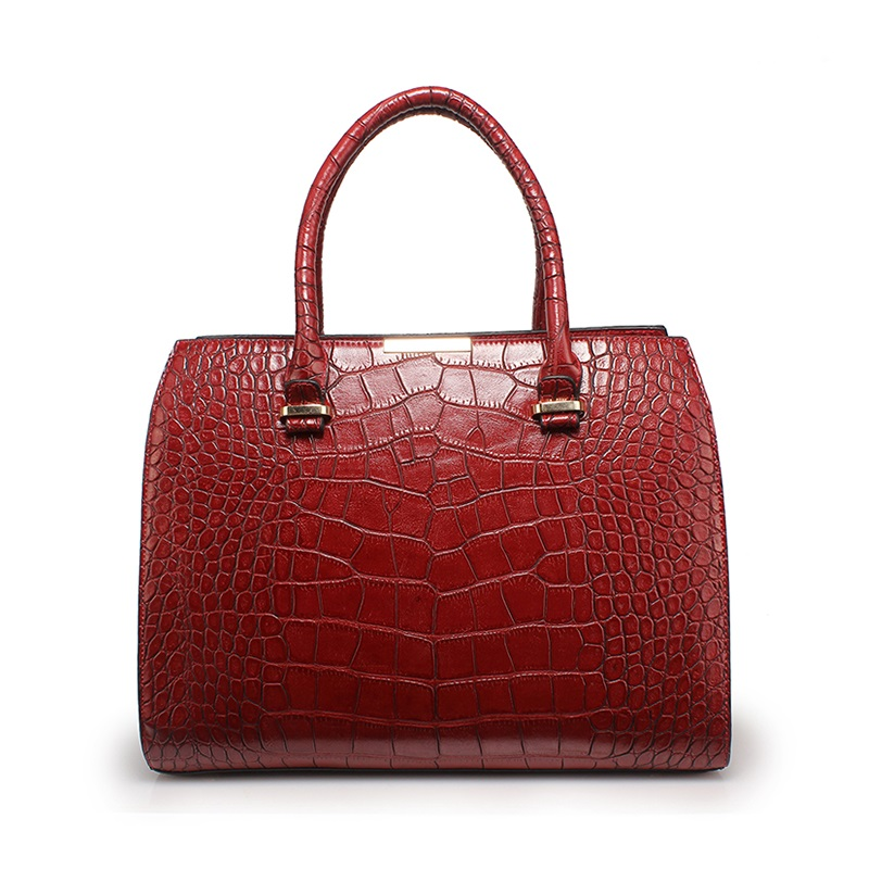 ФОТО 2017 New Fashion Women Black Crocodile Pattern Bag PU leather Female Handbag ladies handbag Trend Elegant and Generous Handbags