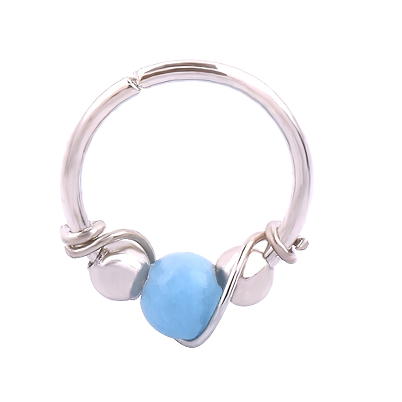 Geometric Type Plating Two Color Ear Bone Nail Male And Female Common Exotic Winding Nose Ring