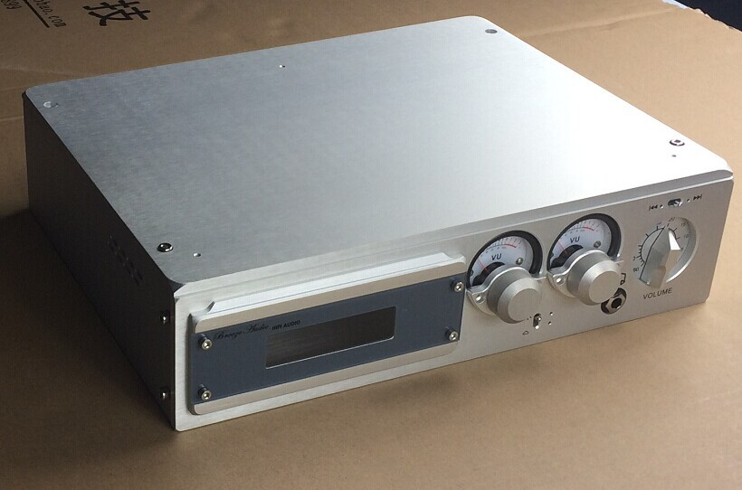 Breeze Audio-the remote control preamp amplifier BZ3208N  luxurious aluminum chassis with double Level meter