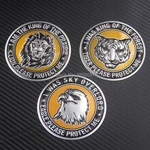 FASP Car Decoration  Stickers Logo Metal 3D Creative Lion Tiger Eagle Aluminium Emblem Badge Decal Motorcycle Sticker