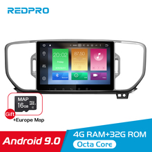 8 4G RAM Android 9.0 Car GPS Stereo For Kia Sportage 2016 2017 2018 Audio Multimedia Navigation WIFI FM Radio Video No DVD Play 8 core 4g ram android 8 0 car dvd multimedia radio player for kia picanto morning 2017 2018 stereo gps navigation fm video audio