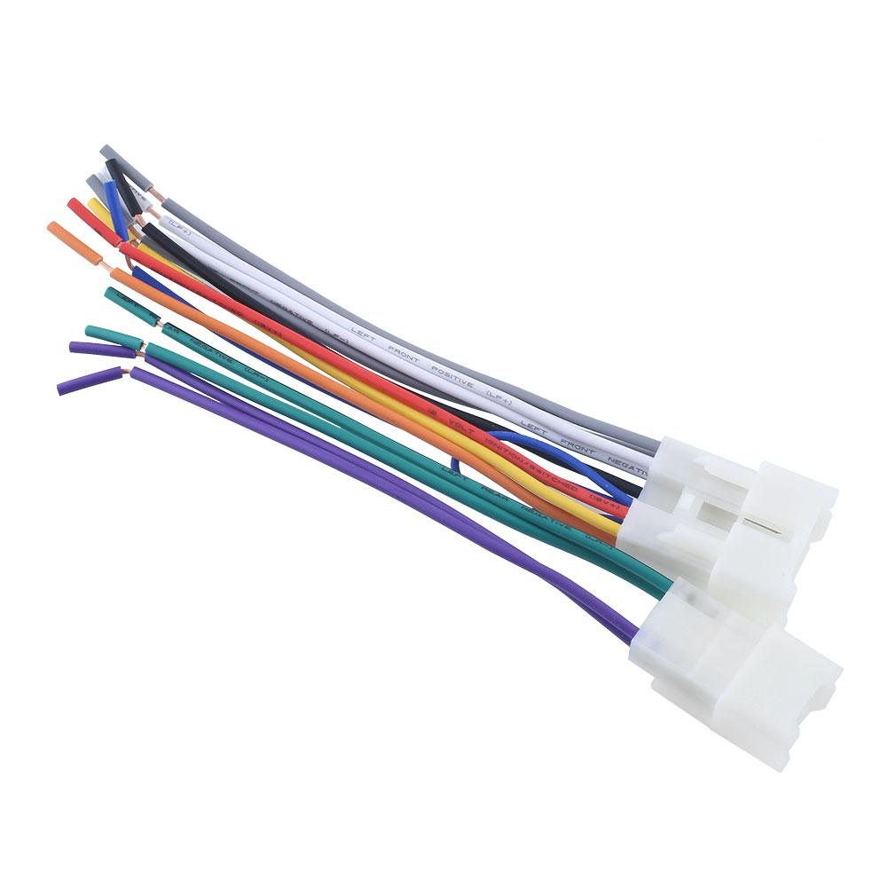 vehemo stereo cd player wiring harness wire aftermarket radio Cadillac Wire Harness at Cd Player Wire Harness