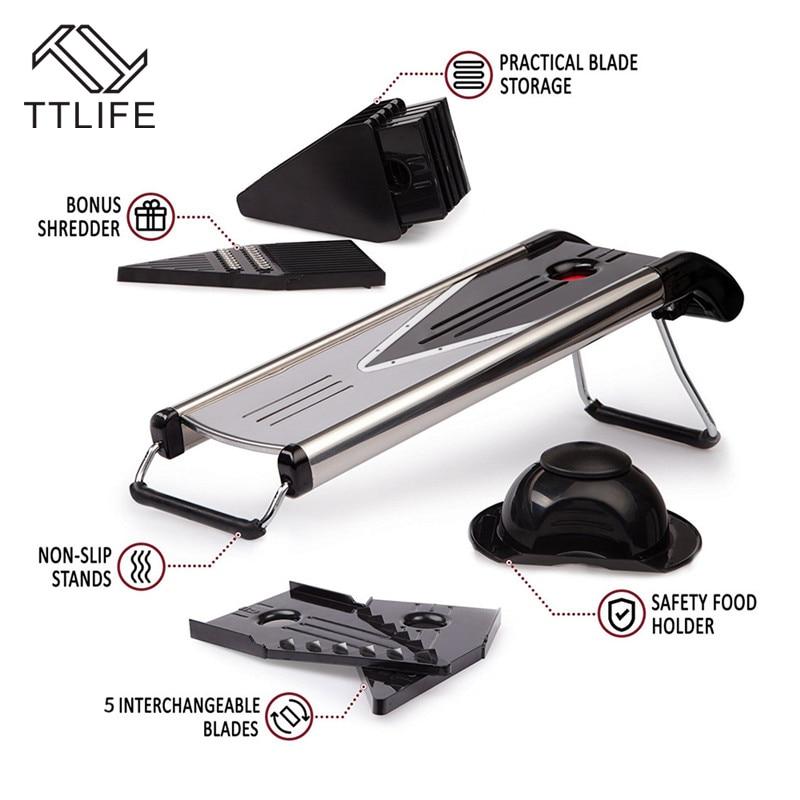 TTLIFE Zufällige Farbe Multifunktionaler V-Slicer Mandoline Slicer - Küche, Essen und Bar - Foto 6